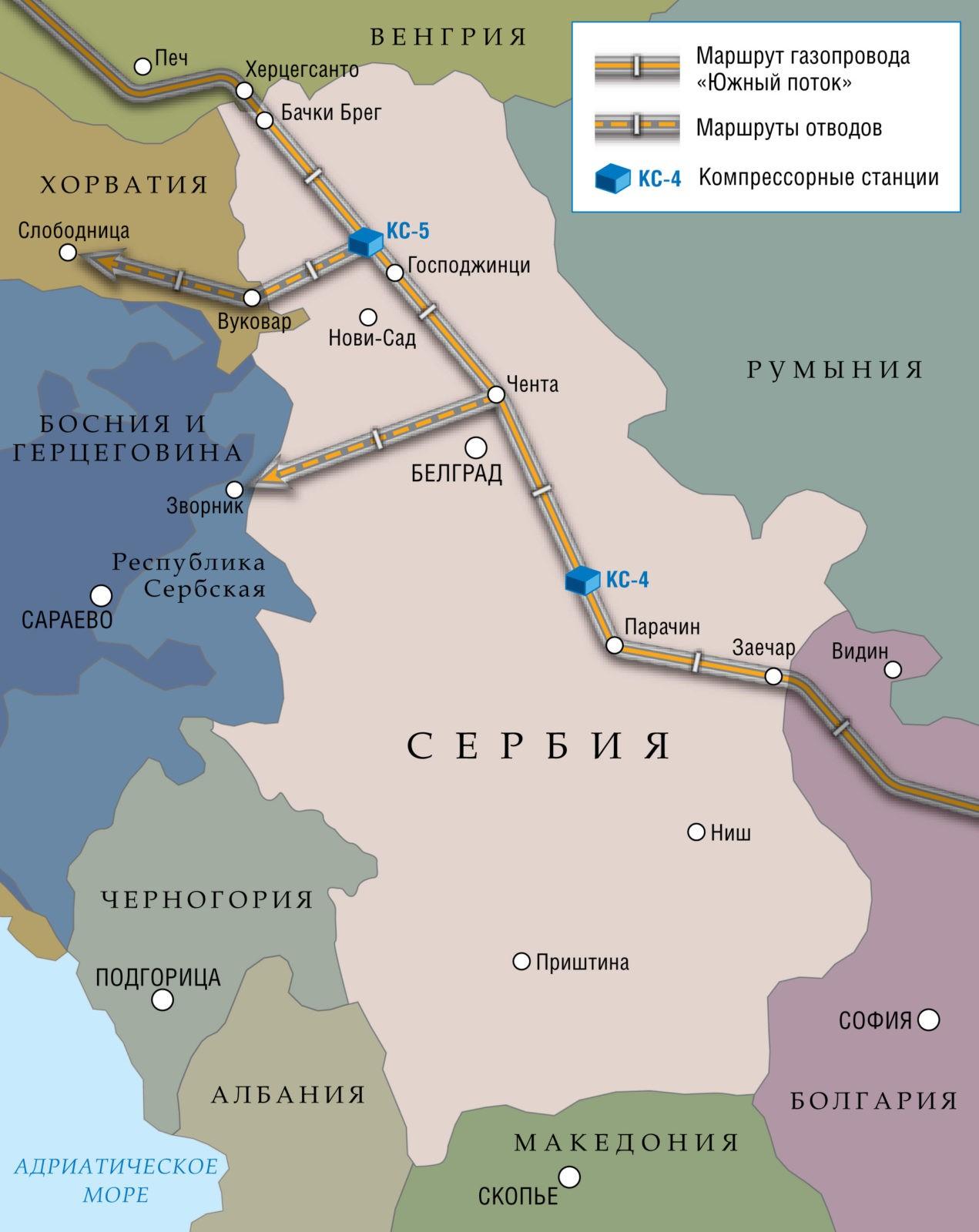 Сербский участок газопровода «Южный поток»